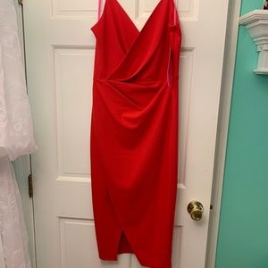 NWT Betsey Johnson Red Midi Cocktail Dress